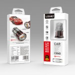LDNIO C304Q Car Charger 1 USB FAST Charger Included Lightning Cable