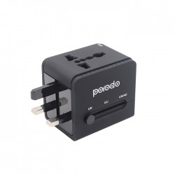Porodo Dual USB Port Universal Travel Adapter 2.4A