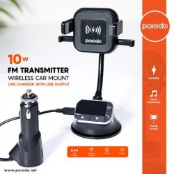 PORODO FM TRANSMITTER WIRELESS CAR MOUNT 10